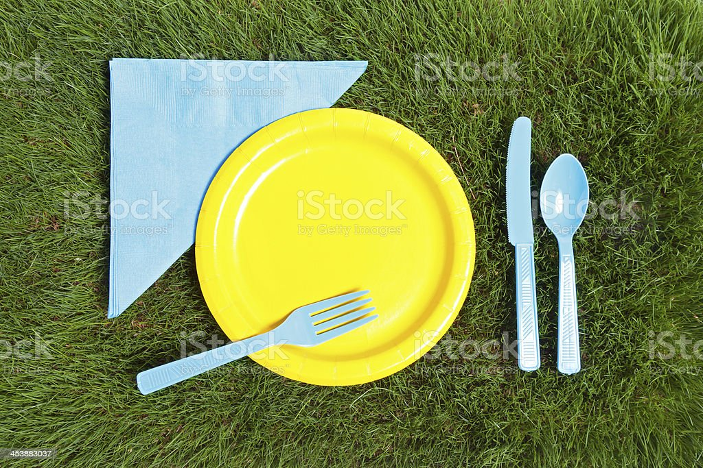 Picnic on the Grass royalty-free stock photo