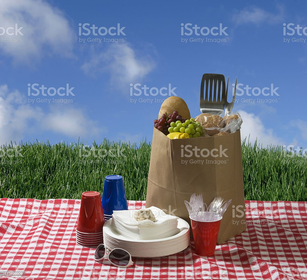 Picnic Party stock photo