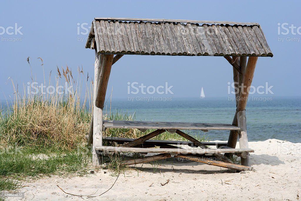 Picnic Place at the Beach. royalty-free stock photo