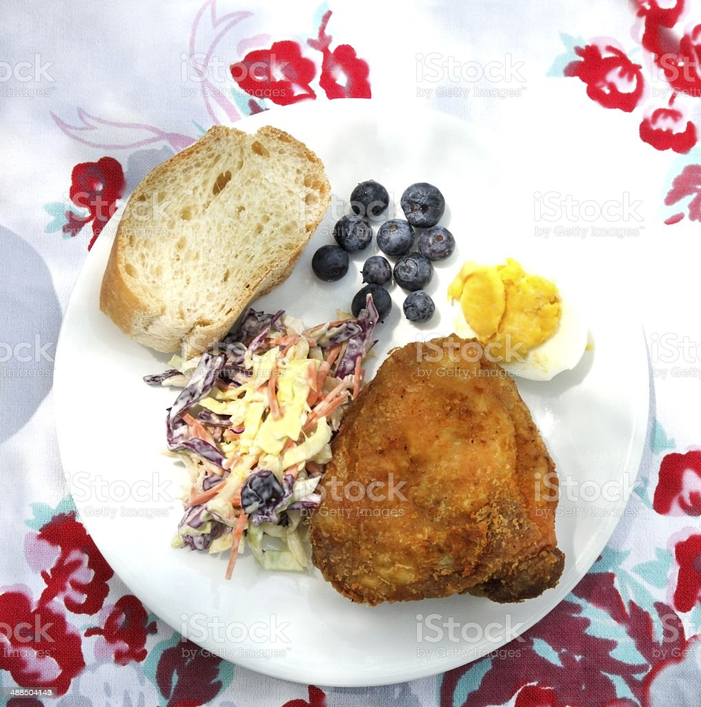 Picnic Plate stock photo