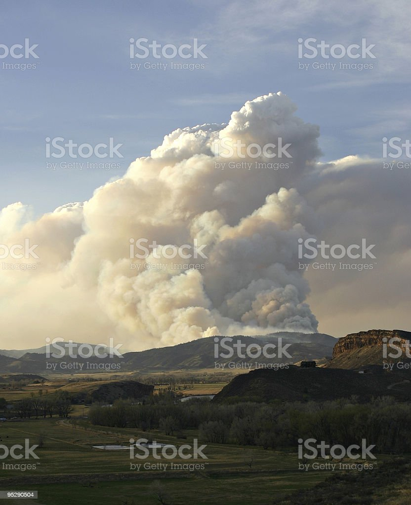 Picnic Rock Forest Fire Near Fort Collins, Colorado royalty-free stock photo