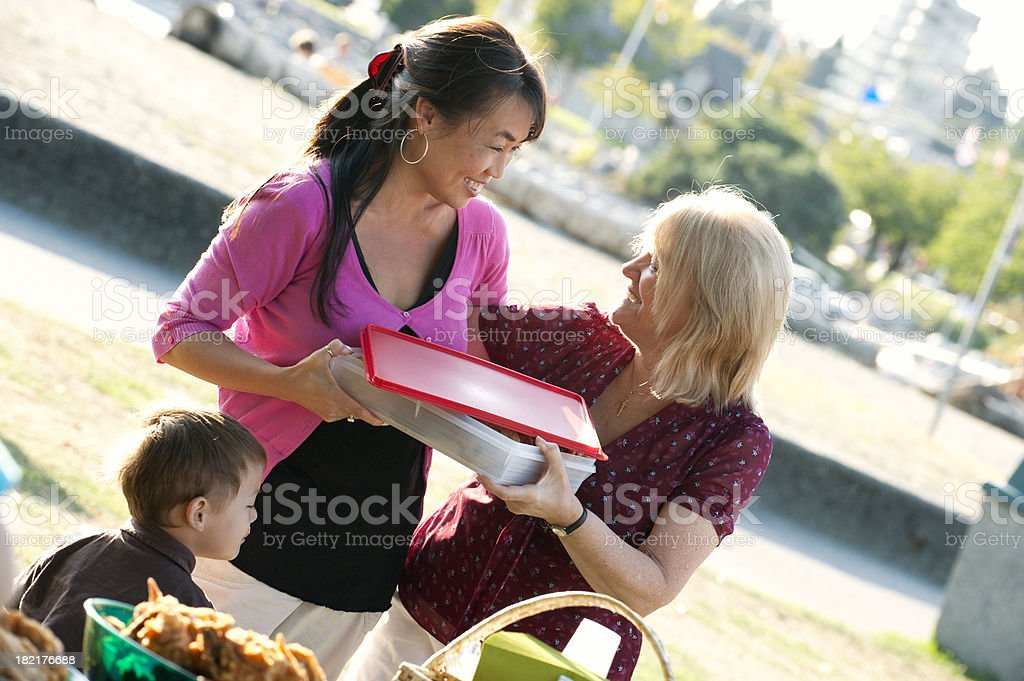 Picnic Sharing stock photo