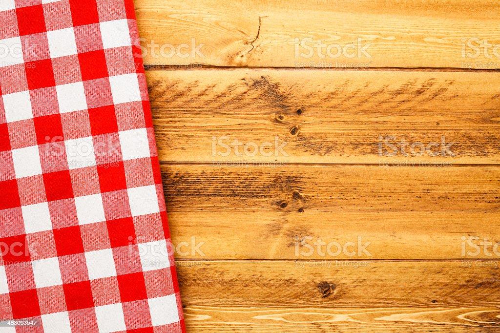 Picnic Table and Napkin stock photo