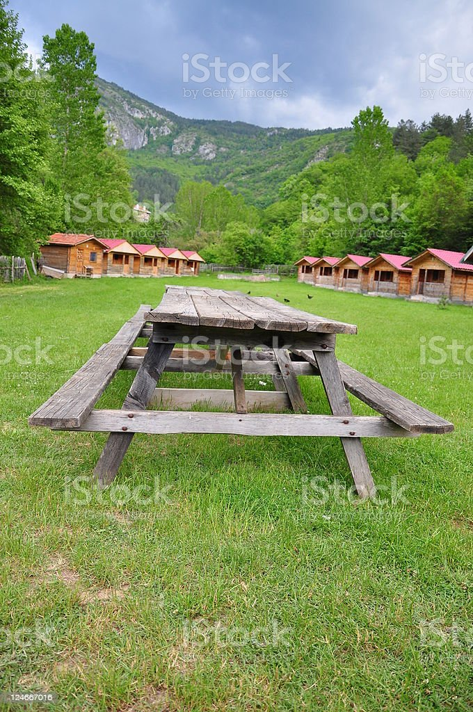 picnic table royalty-free stock photo