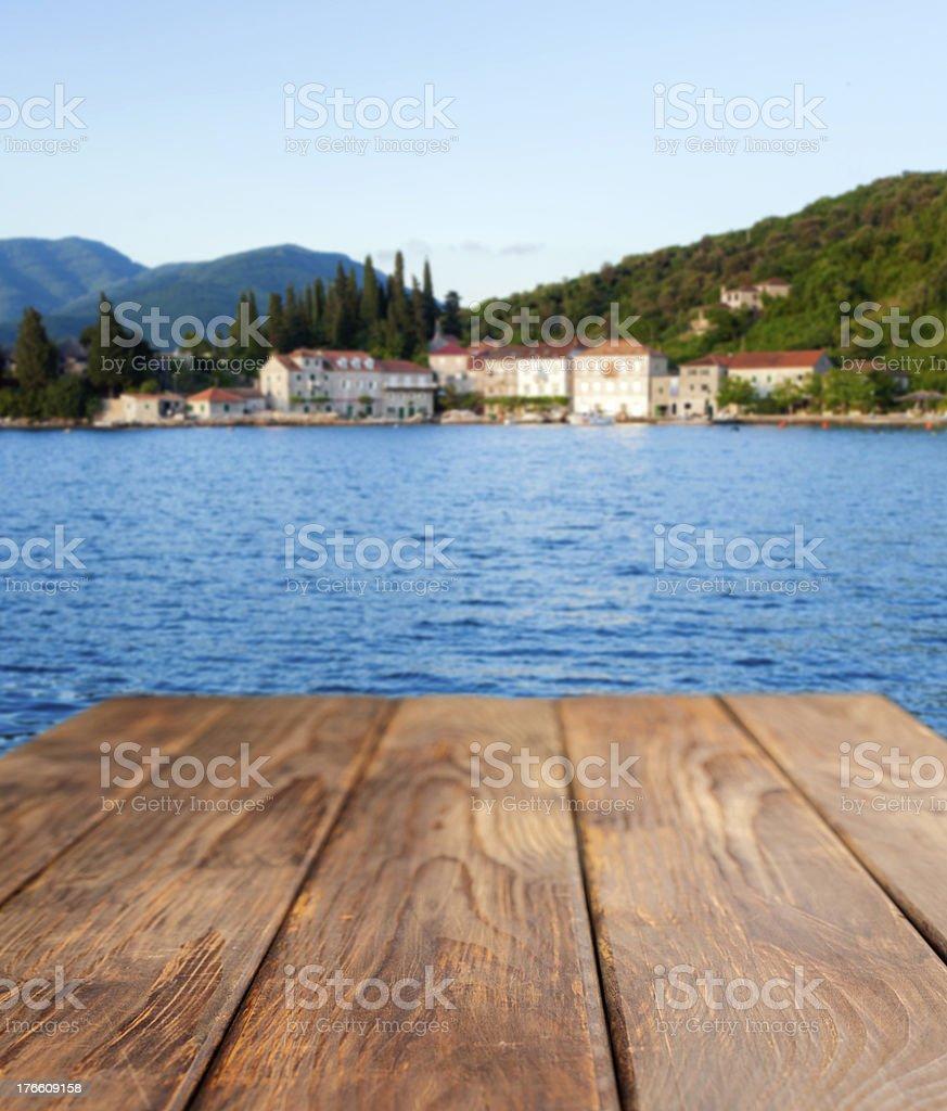 Picnic table royalty-free stock photo