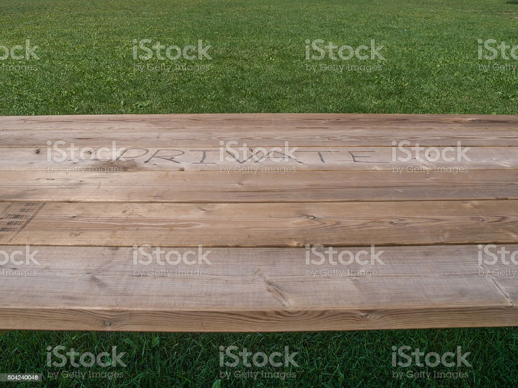 Picnic Table Top stock photo