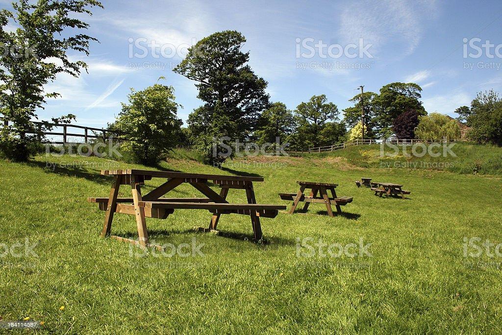 Picnic tables - 002 royalty-free stock photo