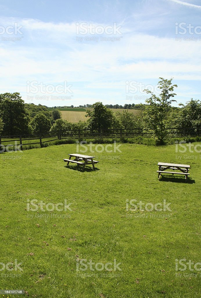 Picnic Tables royalty-free stock photo