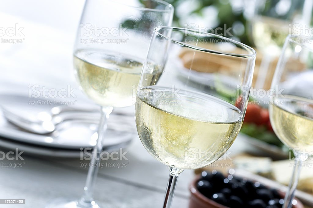 Picnic Wine stock photo