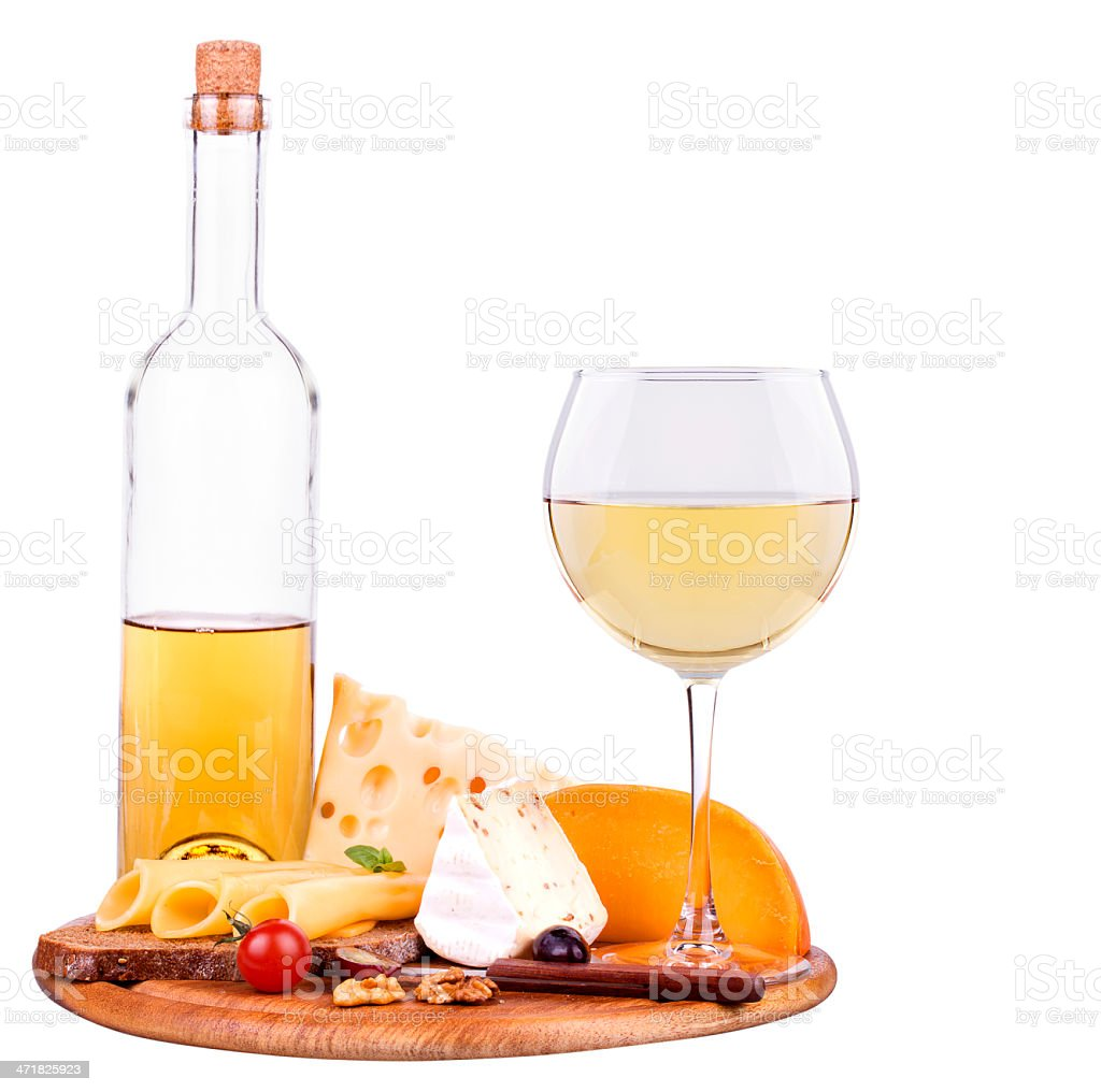 picnic with wine and food royalty-free stock photo