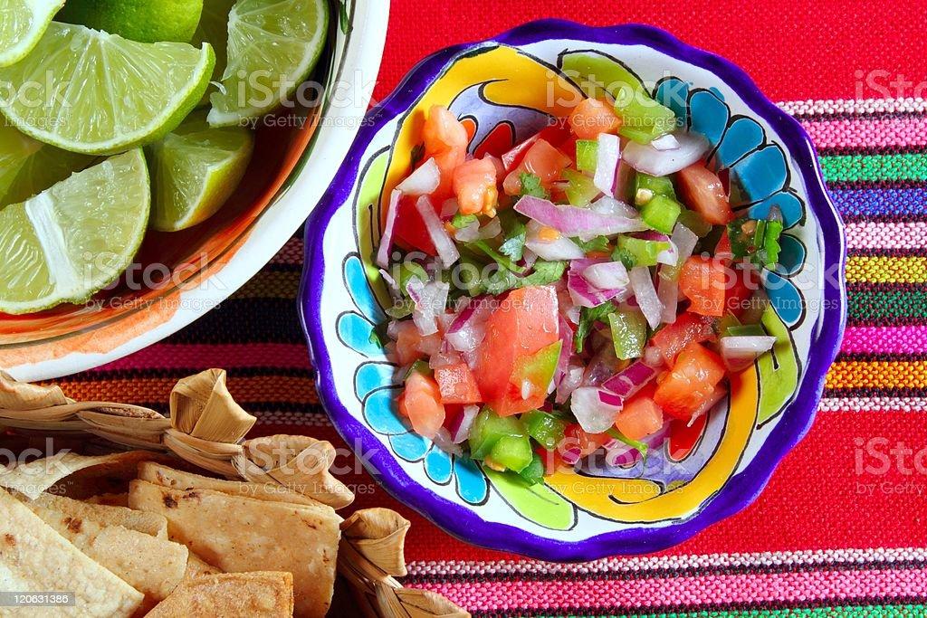 Pico de gallo tomato and chili Mexican sauce royalty-free stock photo