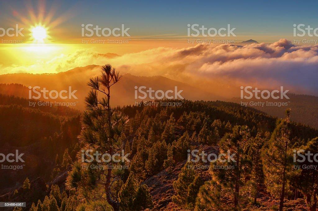 Pico de las Nieves stock photo