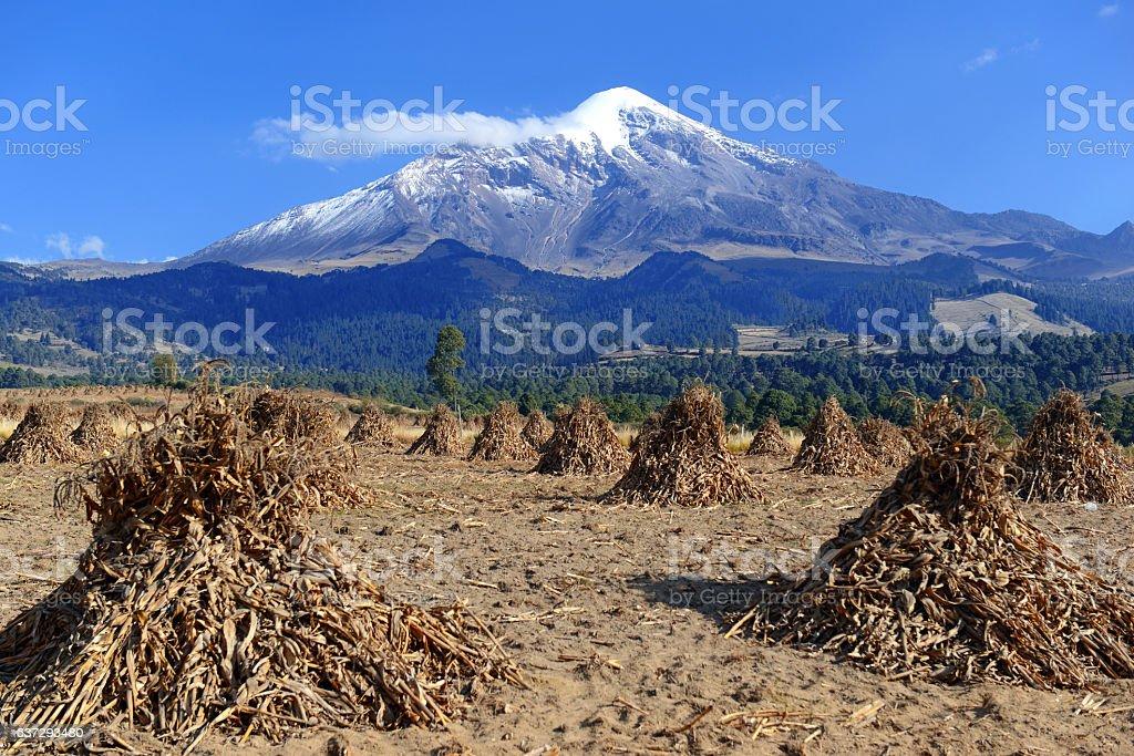 Pico de Orizaba volcano, the highest mountain in Mexico stock photo