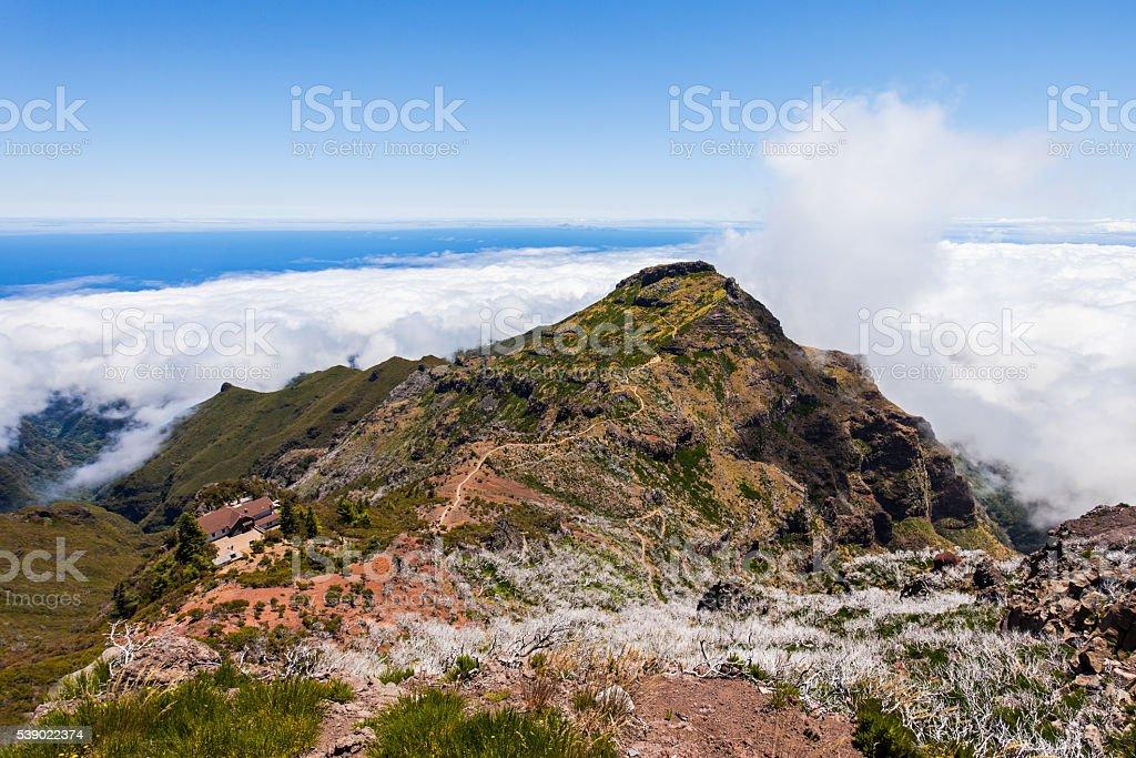 Pico Ruivo, Madeira Island stock photo