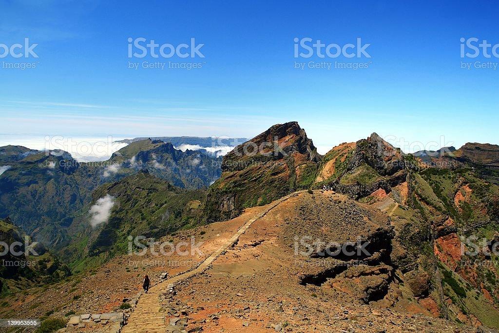 Pico Ruivo stock photo
