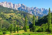 Picos de Europa mountains next to Fuente De village, Cantabria (Spain)