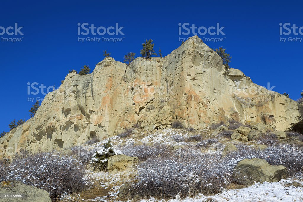 Pictograph Cave State Park royalty-free stock photo