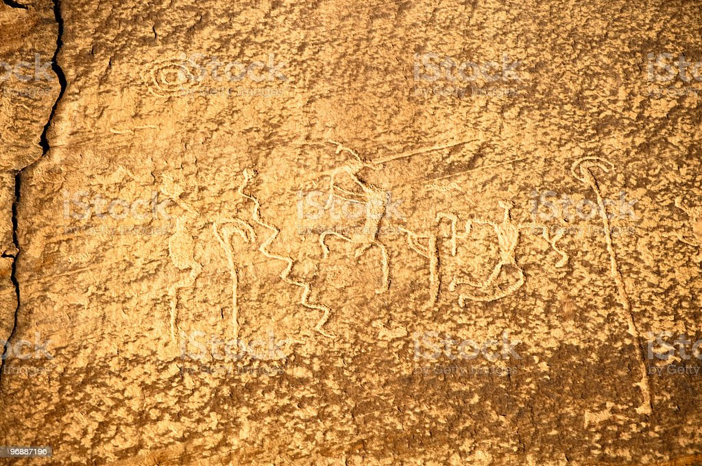 Pictographs Canyon de Chelly royalty-free stock photo