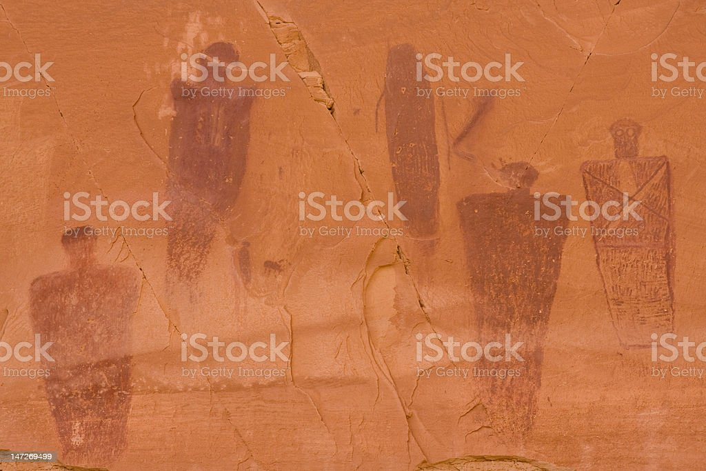Pictographs of Horseshoe Canyon stock photo