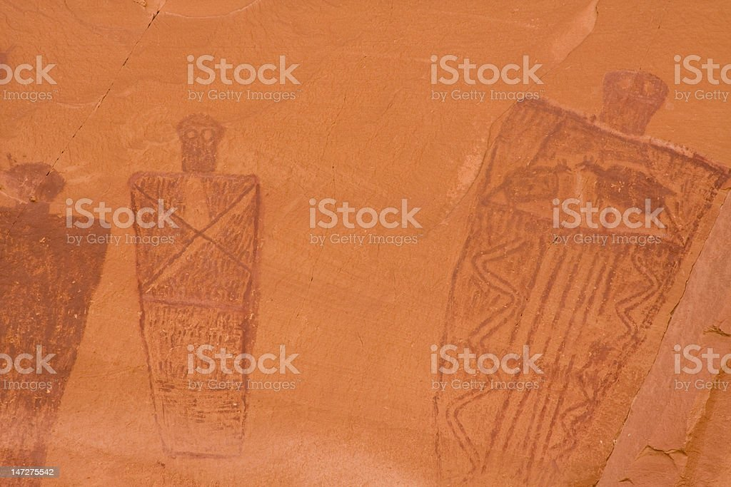 Pictographs of Horseshoe Canyon royalty-free stock vector art