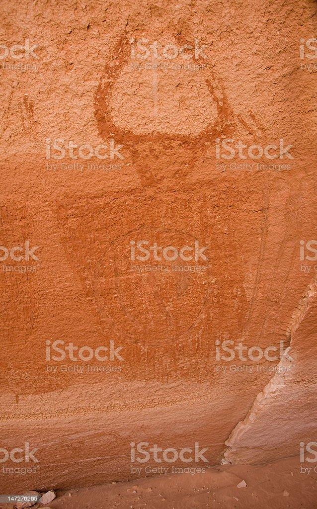 Pictographs of Horseshoe Canyon royalty-free stock photo