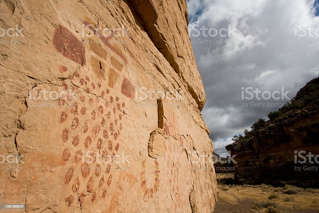 Pictographs of Snake Gulch royalty-free stock photo