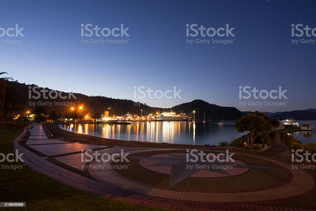 Picton at Dusk stock photo