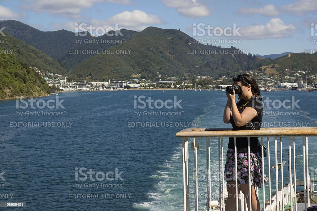 Picton - Cruising on the Interislander stock photo