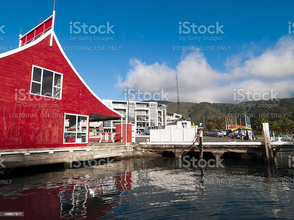 Picton Harbor, New Zealand stock photo