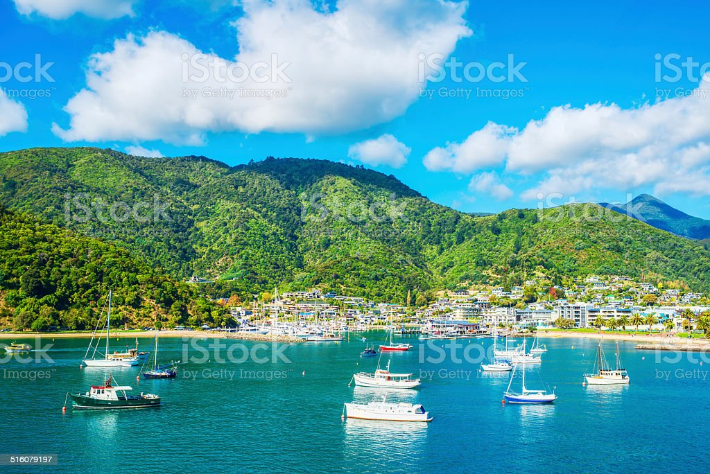 Picton Harbour stock photo