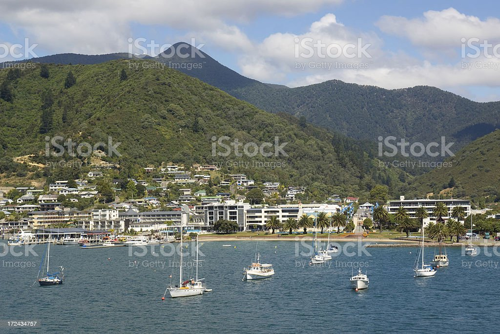 Picton, New Zealand royalty-free stock photo