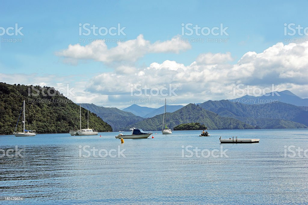 Picton New Zealand stock photo