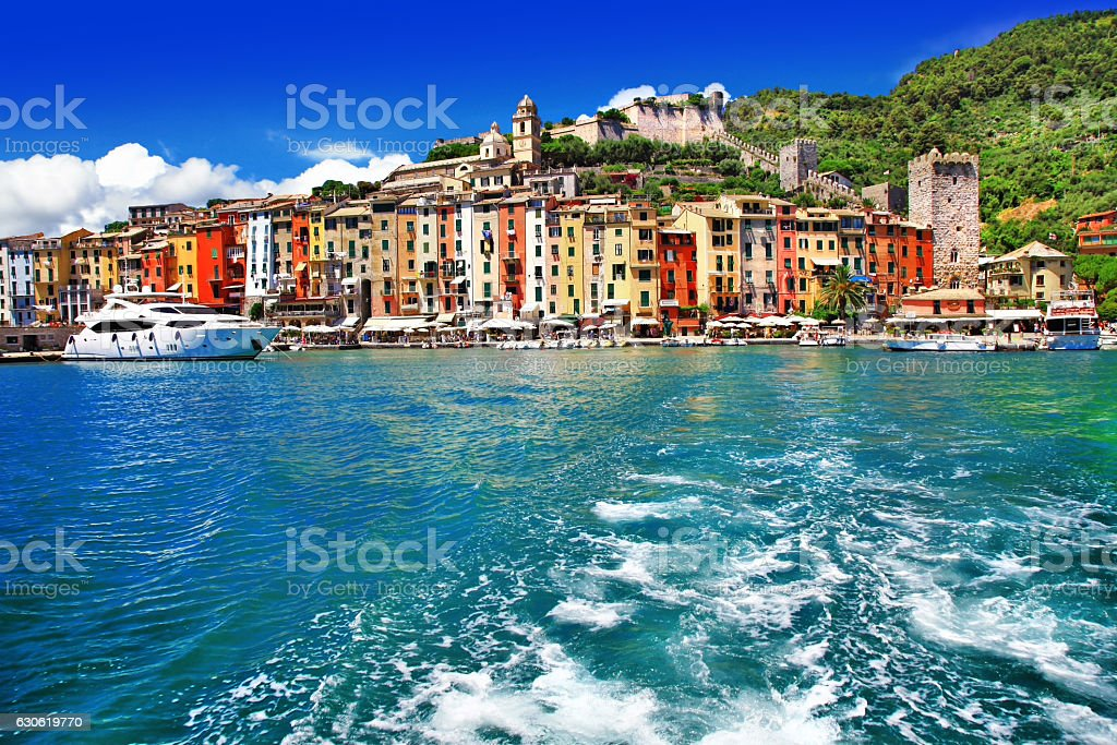 pictorial Liguria - Portovenere, Cinque terre, Italy stock photo