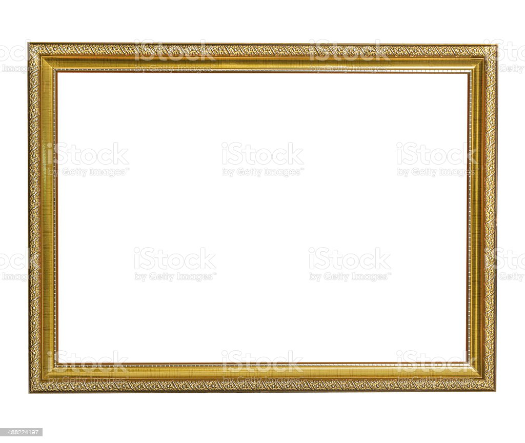 Picture frame gold style royalty-free stock photo