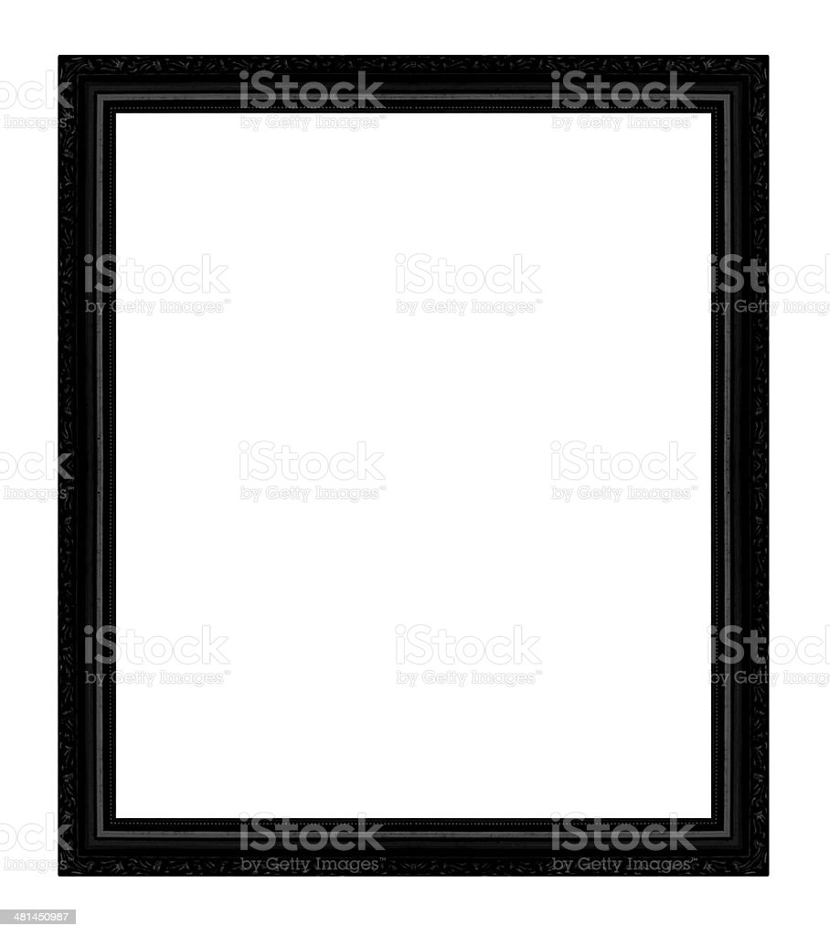 Picture frame isolated on white background. stock photo