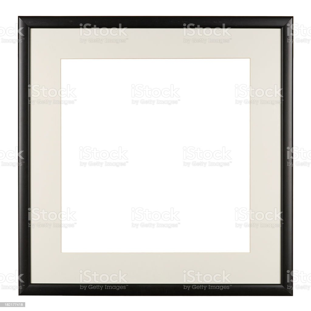 Picture frame isolated on white stock photo