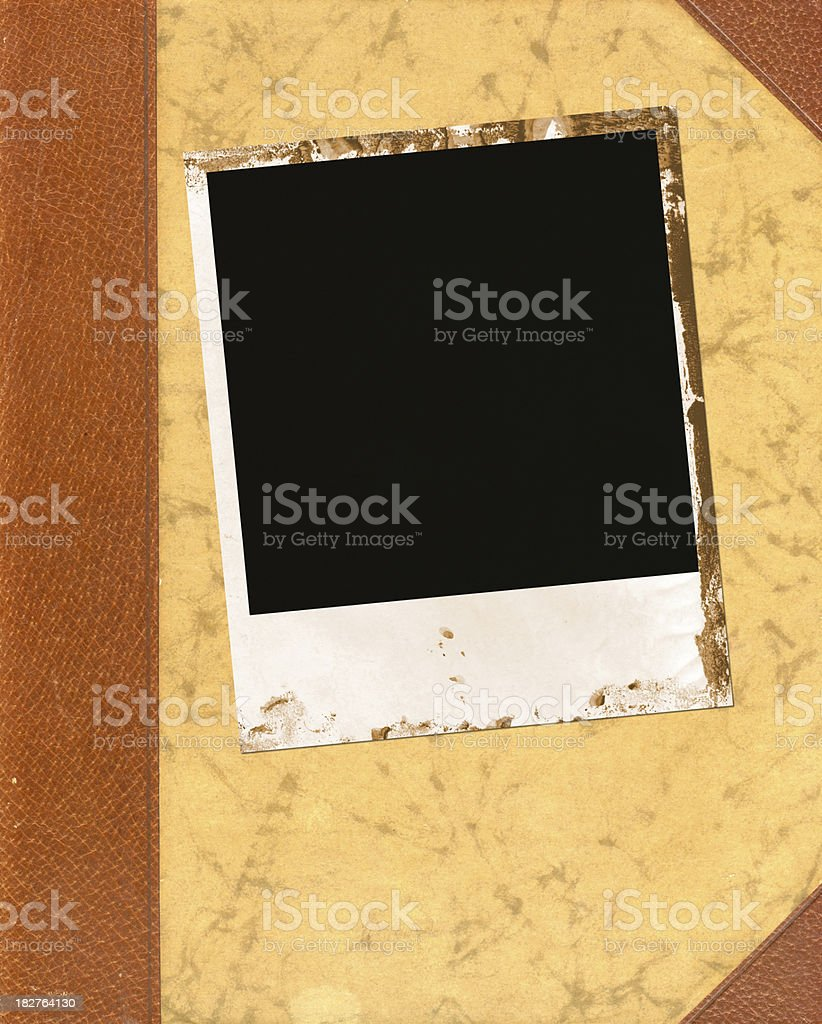 Picture frame on book royalty-free stock photo