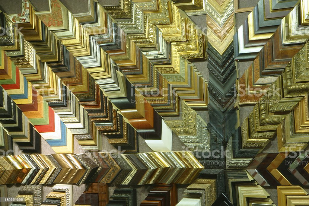 Picture Frame Store Parquet royalty-free stock photo