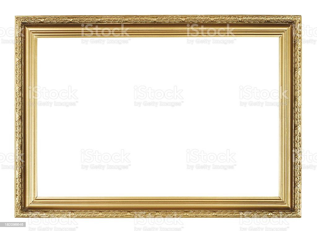 picture frame with carved pattern stock photo