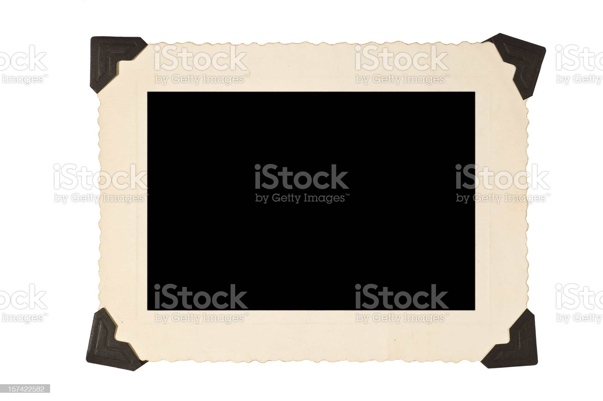 Picture Frame With Corners royalty-free stock photo