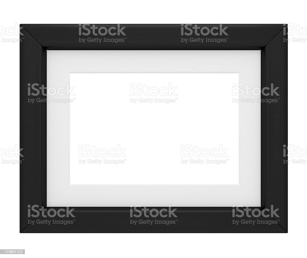Picture Frame with Matte stock photo