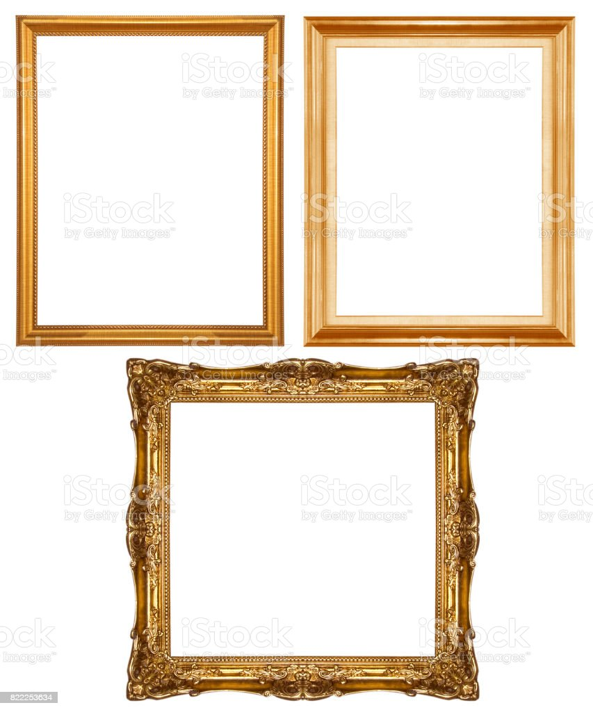 picture frame wood stock photo