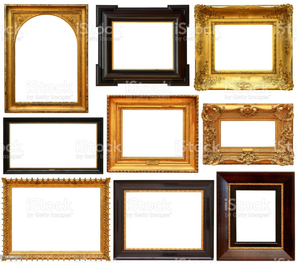 Picture frames collection royalty-free stock photo