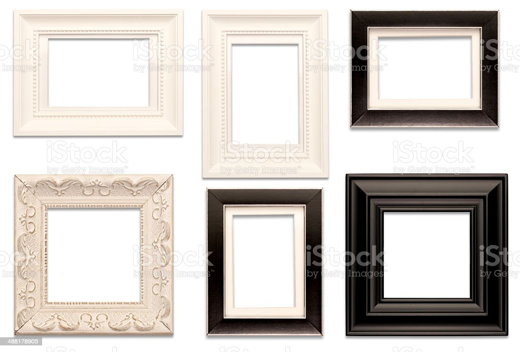 Picture Frames Isolated on White Background stock photo