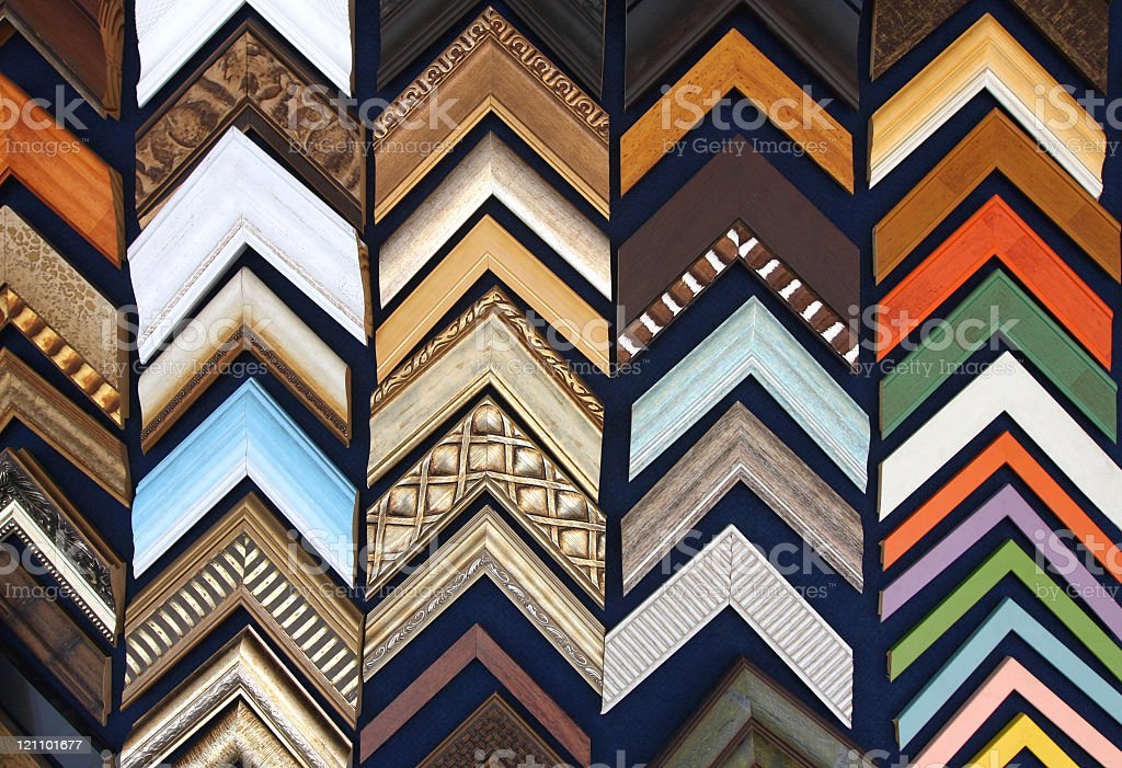 Picture frames models royalty-free stock photo
