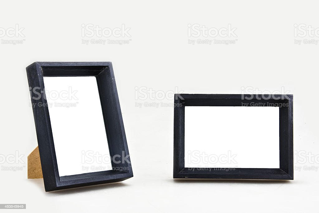 Picture frames vertical and horizontal stock photo