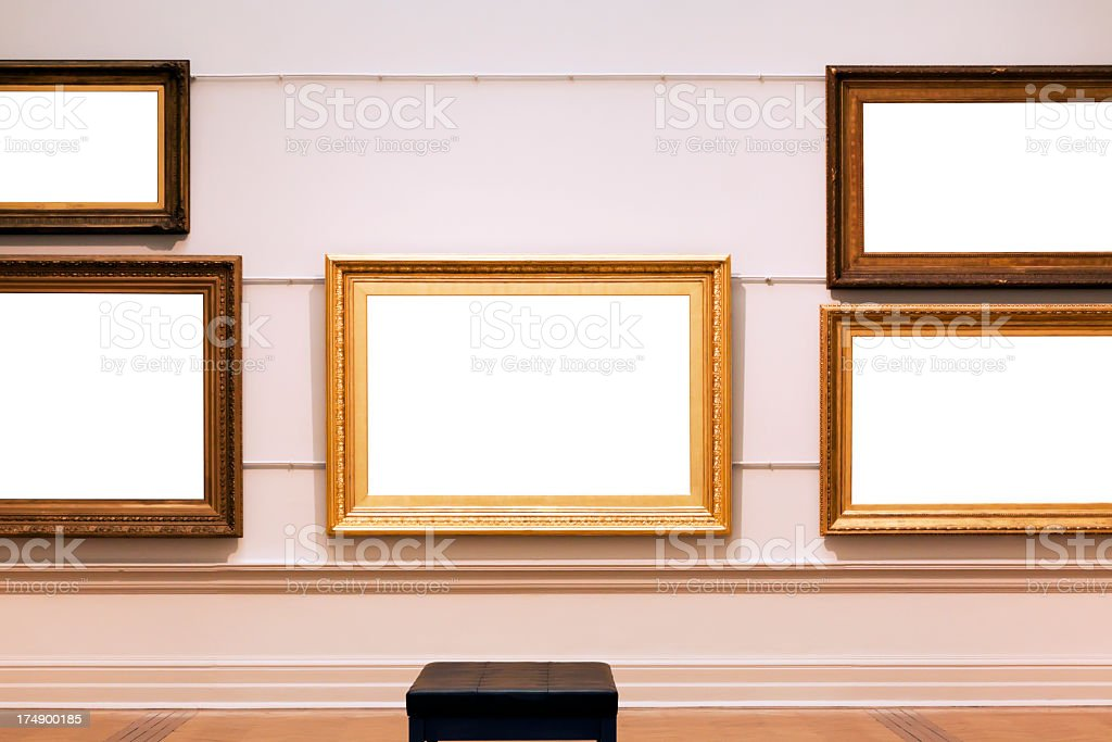 Picture frames with white empty spaces, copy space royalty-free stock photo