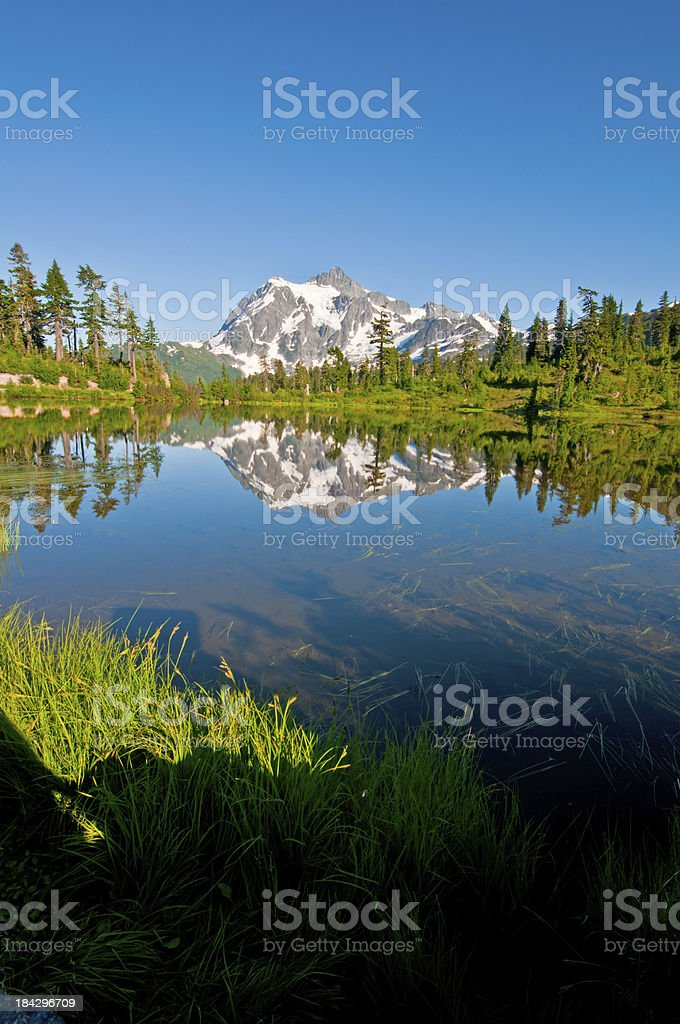 Picture Lake and Mt. Shuksan - IV royalty-free stock photo