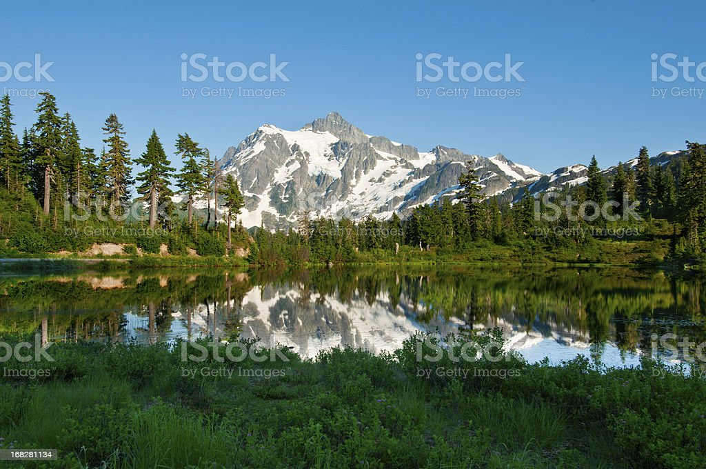 Picture Lake and Mt. Shuksan - V royalty-free stock photo