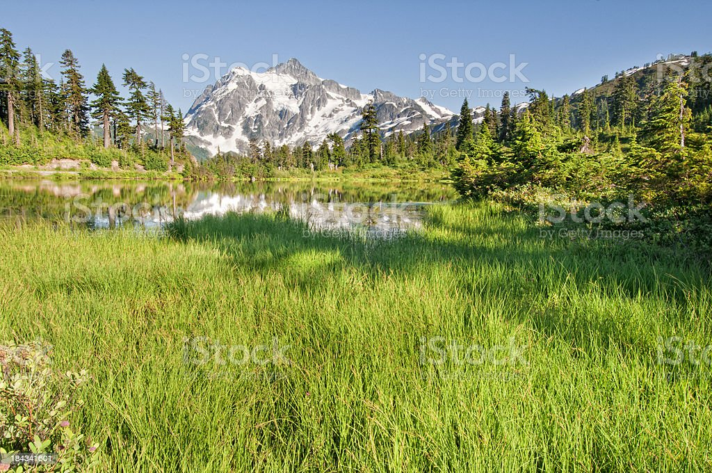 Picture Lake and Mt. Shuksan - VII royalty-free stock photo